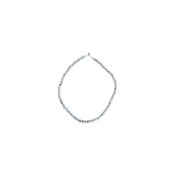 Collana Calcedonio Blu (6mm)