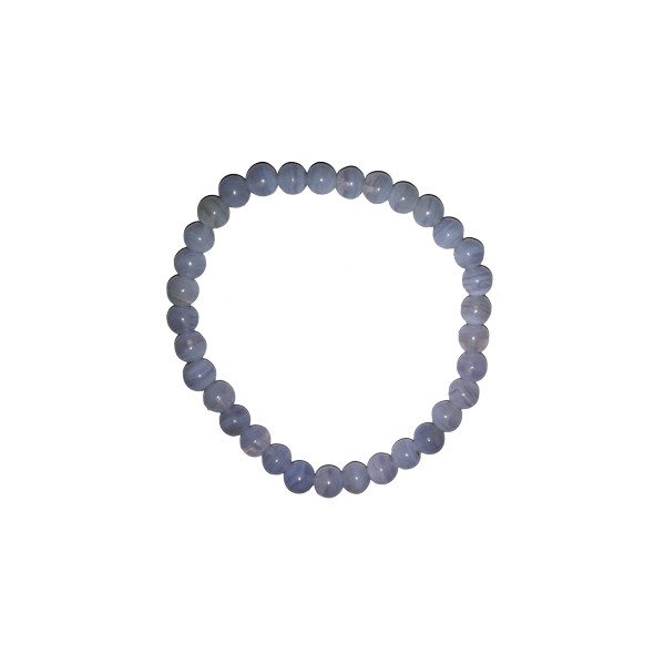 Pulsera de Calcedonia azul (bolas de 6mm)