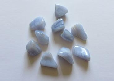 Calcedonia azul canto rodado (2u)