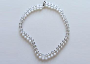 Collana di cristallo di rocca di quarzo (10mm)