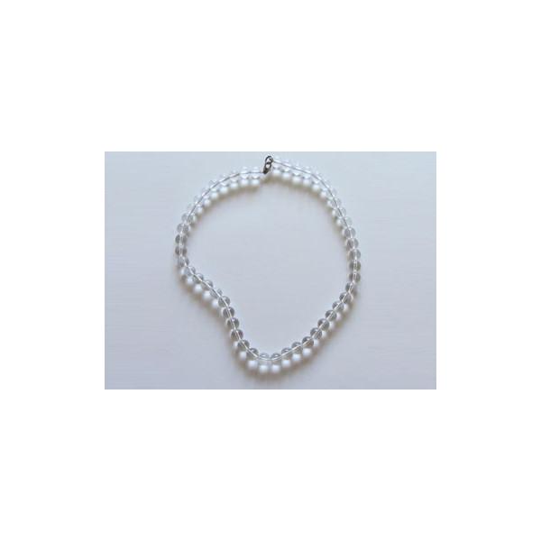 Collar de Cuarzo cristal de roca (10mm)